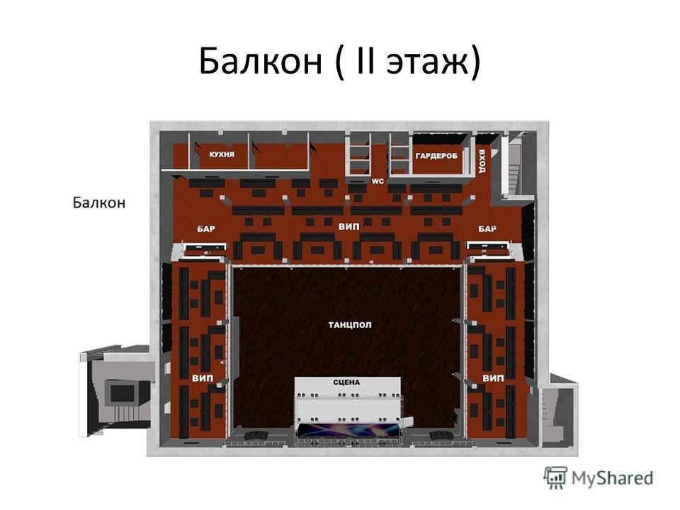 Балкон ( II этаж)