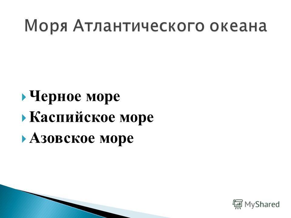 Черное море Каспийское море Азовское море