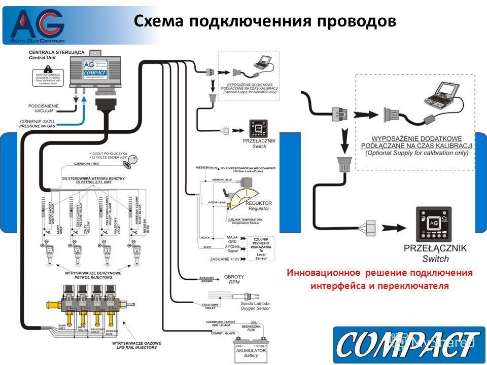 Схема подключенния проводов