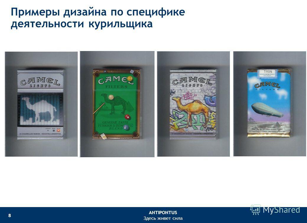 ANTIPONTUS Здесь живет сила 8 Примеры дизайна по специфике деятельности курильщика