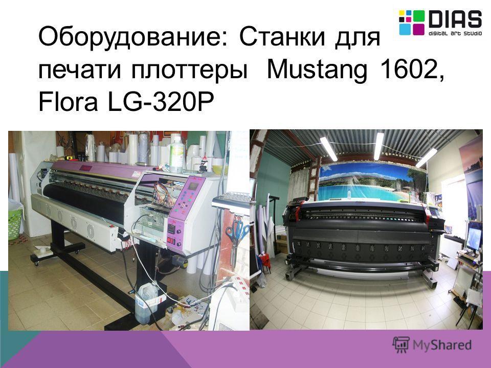 Оборудование: Станки для печати плоттеры Mustang 1602, Flora LG-320P
