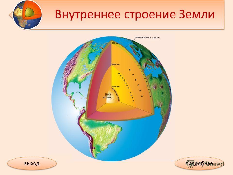 Внутреннее строение Земли выход подробнее