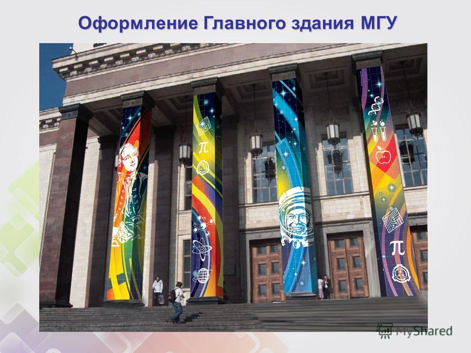 Оформление Главного здания МГУ
