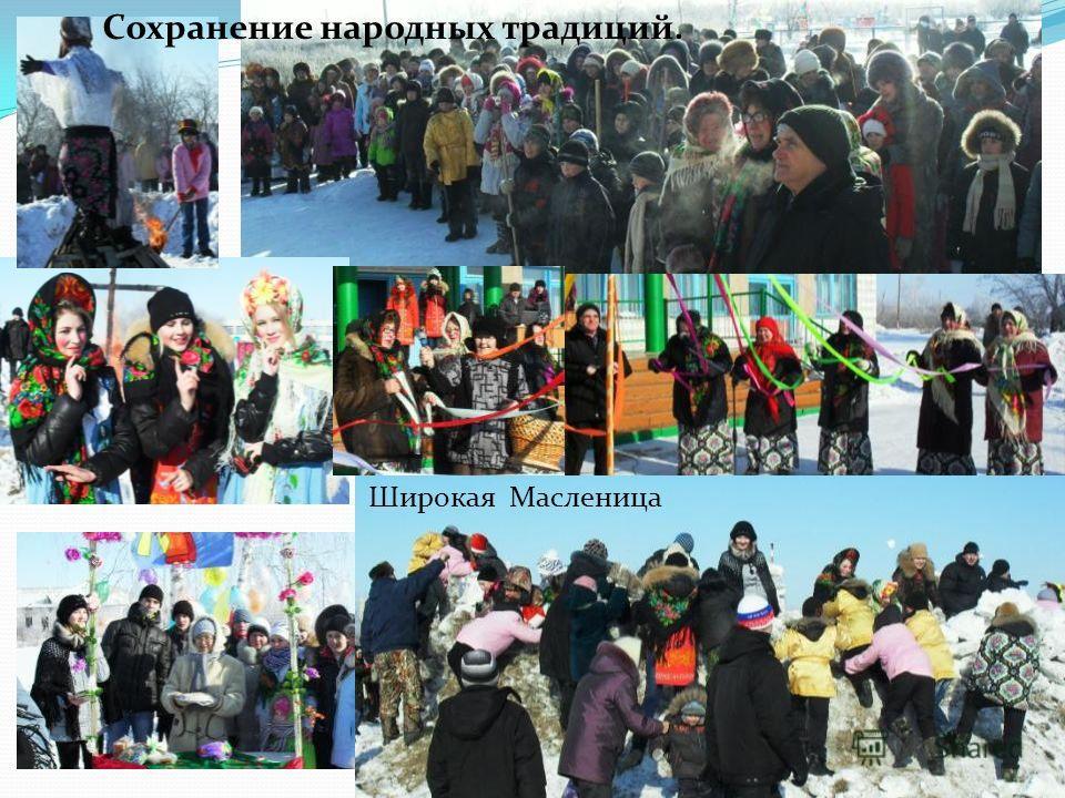 Широкая Масленица Сохранение народных традиций.