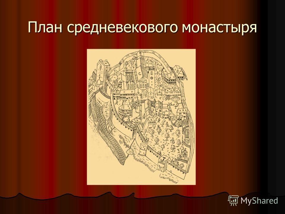 План средневекового монастыря
