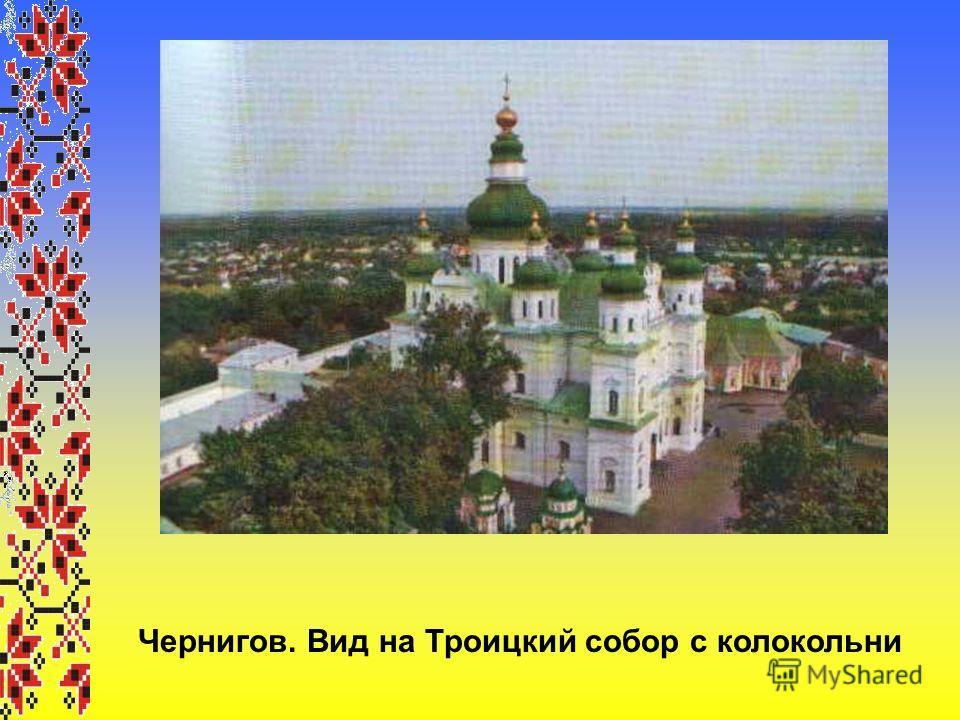 Чернигов. Вид на Троицкий собор с колокольни