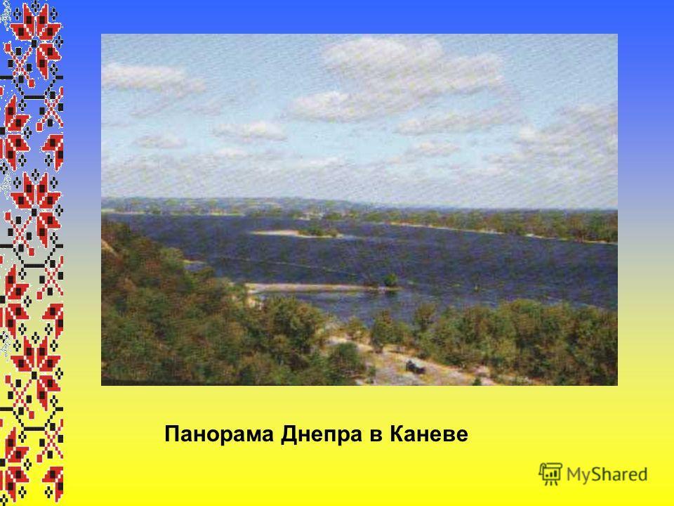 Панорама Днепра в Каневе