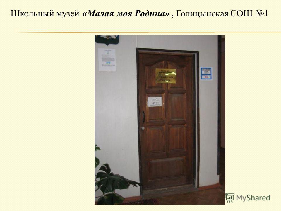Школьный музей «Малая моя Родина», Голицынская СОШ 1