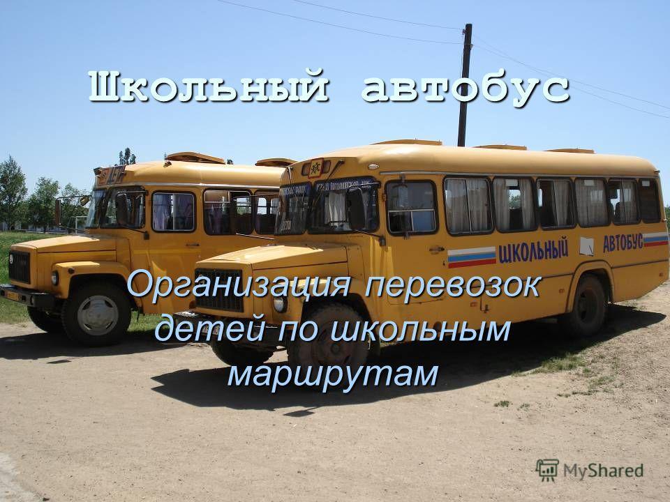 Школьный автобус Организация перевозок детей по школьным маршрутам