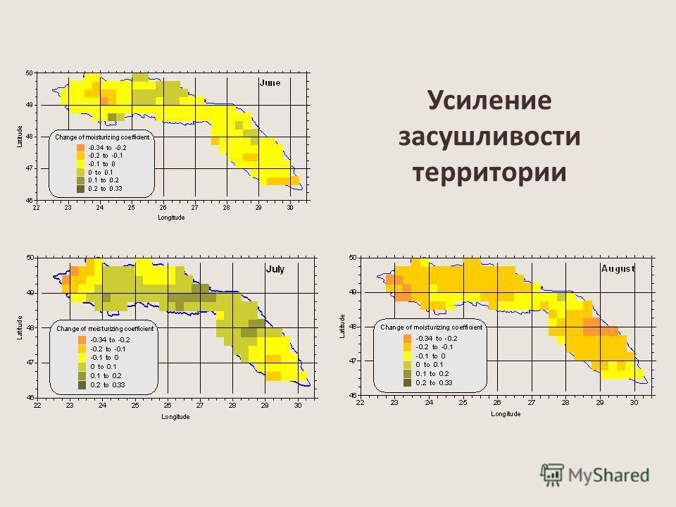 Усиление засушливости территории