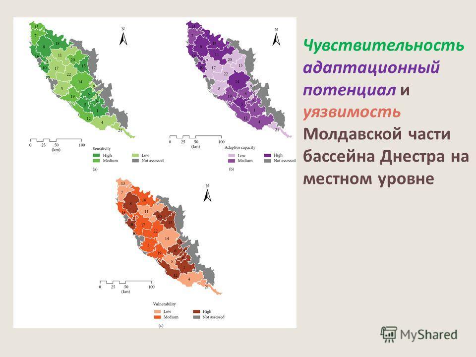 Чувствительность адаптационный потенциал и уязвимость Молдавской части бассейна Днестра на местном уровне