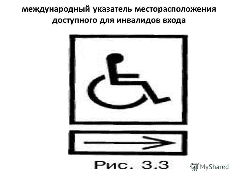 международный указатель месторасположения доступного для инвалидов входа