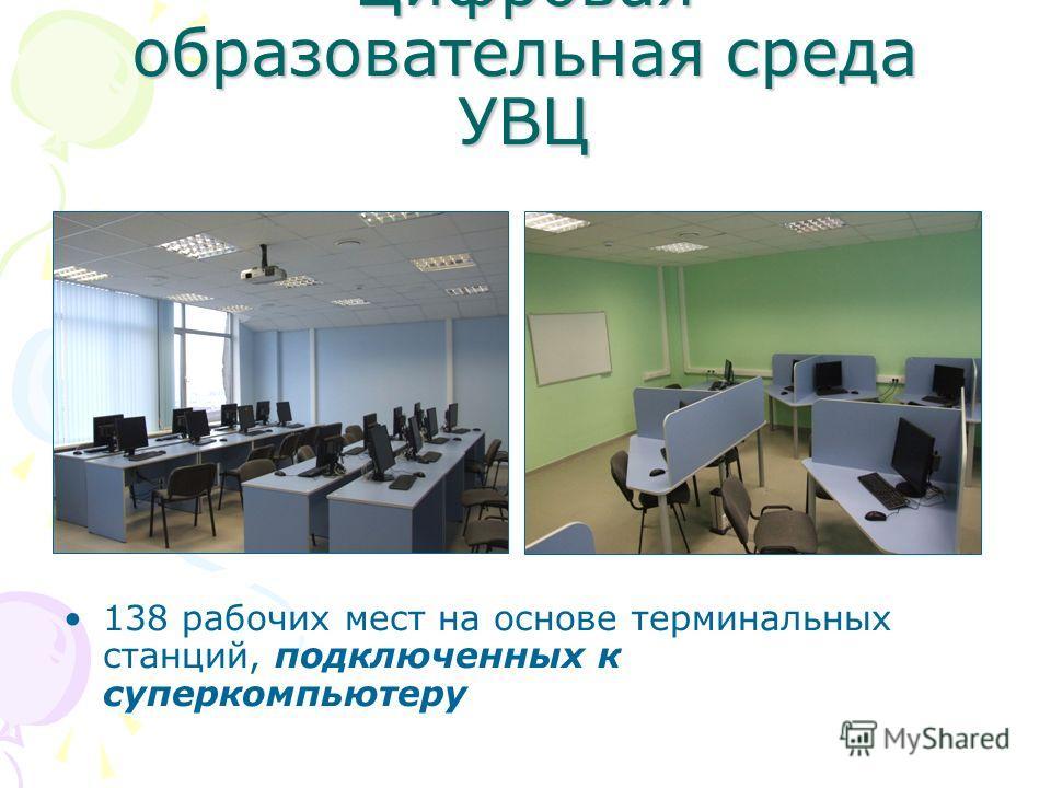 Цифровая образовательная среда УВЦ 138 рабочих мест на основе терминальных станций, подключенных к суперкомпьютеру