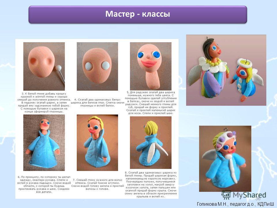 Голикова М.Н., педагог д.о., КДПиШ Мастер - классы 36