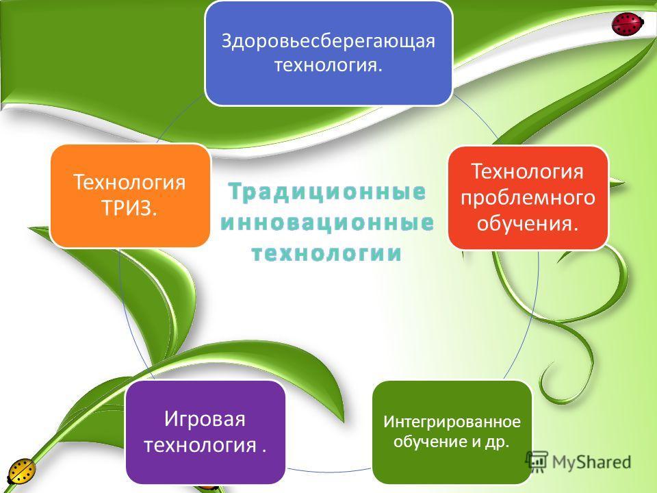 Здоровьесберегающая технология. Технология проблемного обучения. Интегрированное обучение и др. Игровая технология. Технология ТРИЗ.