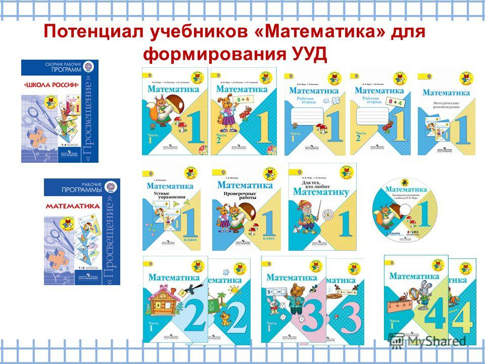 Потенциал учебников «Математика» для формирования УУД