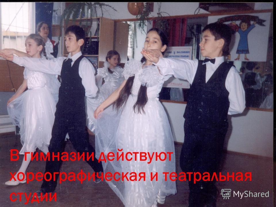 В гимназии действуют хореографическая и театральная студии