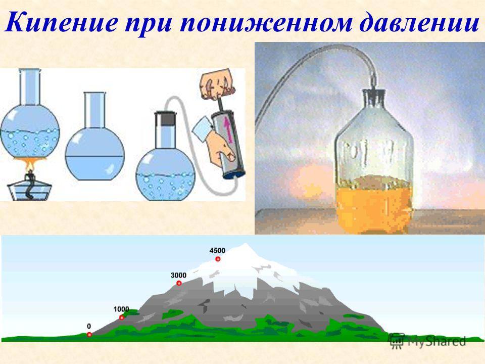 Сравним: Испарение Процесс парообразования Парообразование происходит с поверхности жидкости Происходит при любой температуре Температура жидкости понижается Кипение Процесс парообразования Парообразование происходит по всему объему жидкости Происход