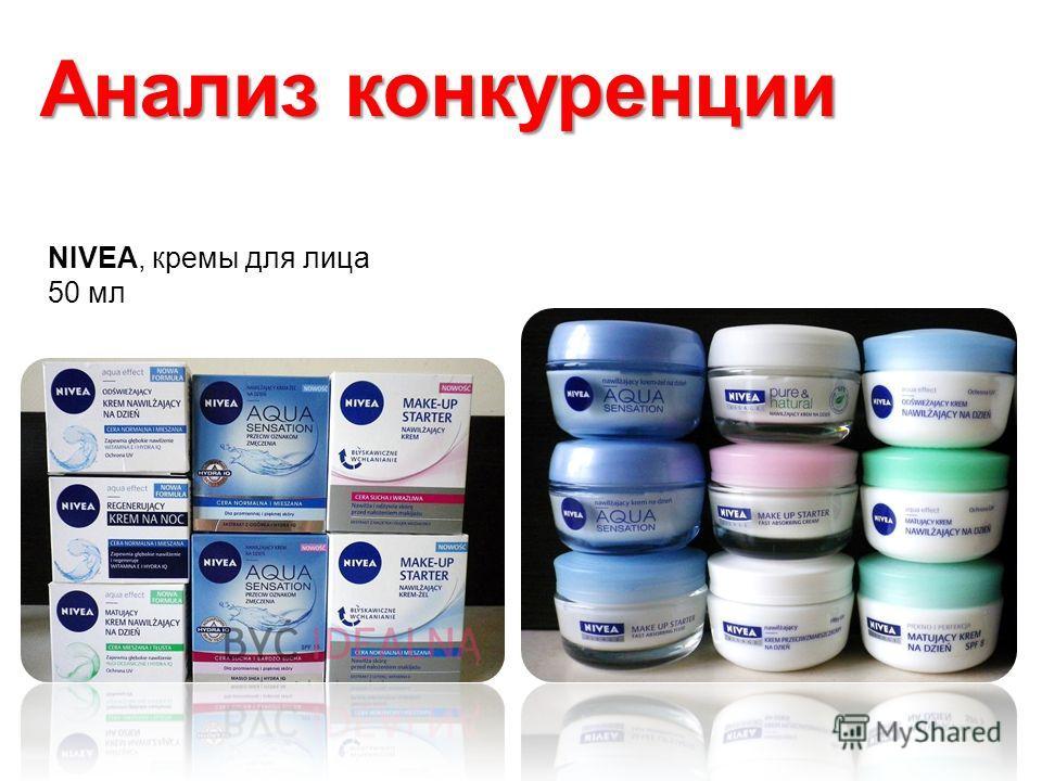 NIVEA, кремы для лица 50 мл Анализ конкуренции