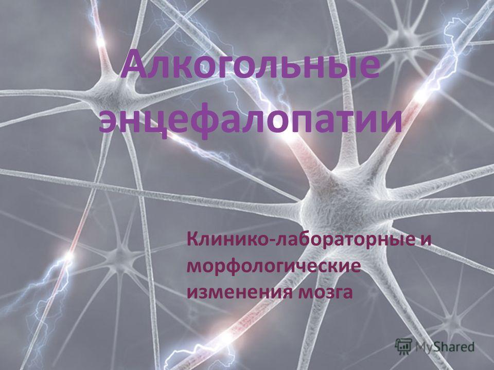 Алкогольные энцефалопатии Клинико-лабораторные и морфологические изменения мозга