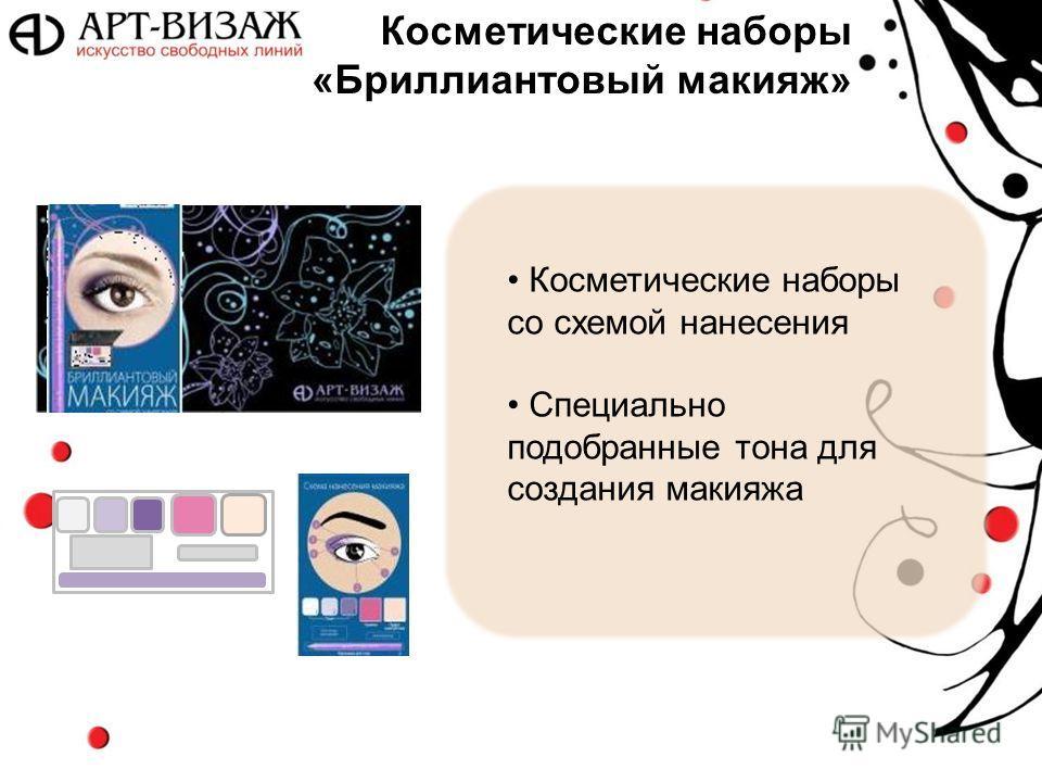 Косметические наборы «Бриллиантовый макияж» Косметические наборы со схемой нанесения Специально подобранные тона для создания макияжа