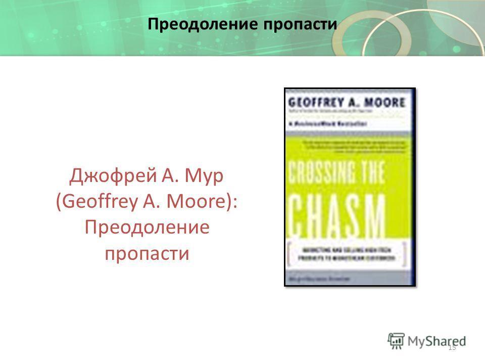 Преодоление пропасти Джофрей А. Мур (Geoffrey A. Moore): Преодоление пропасти 15