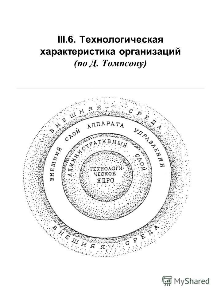 III.6. Технологическая характеристика организаций (по Д. Томпсону)