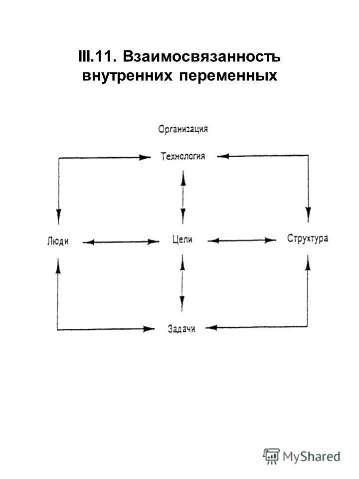 III.11. Взаимосвязанность внутренних переменных