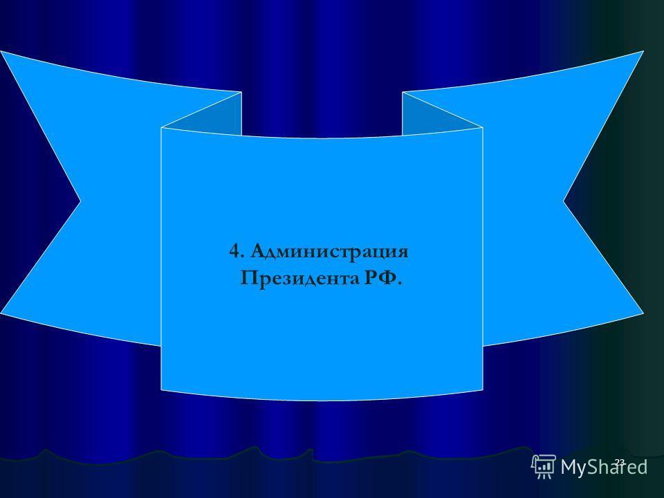 23 4. Администрация Президента РФ.