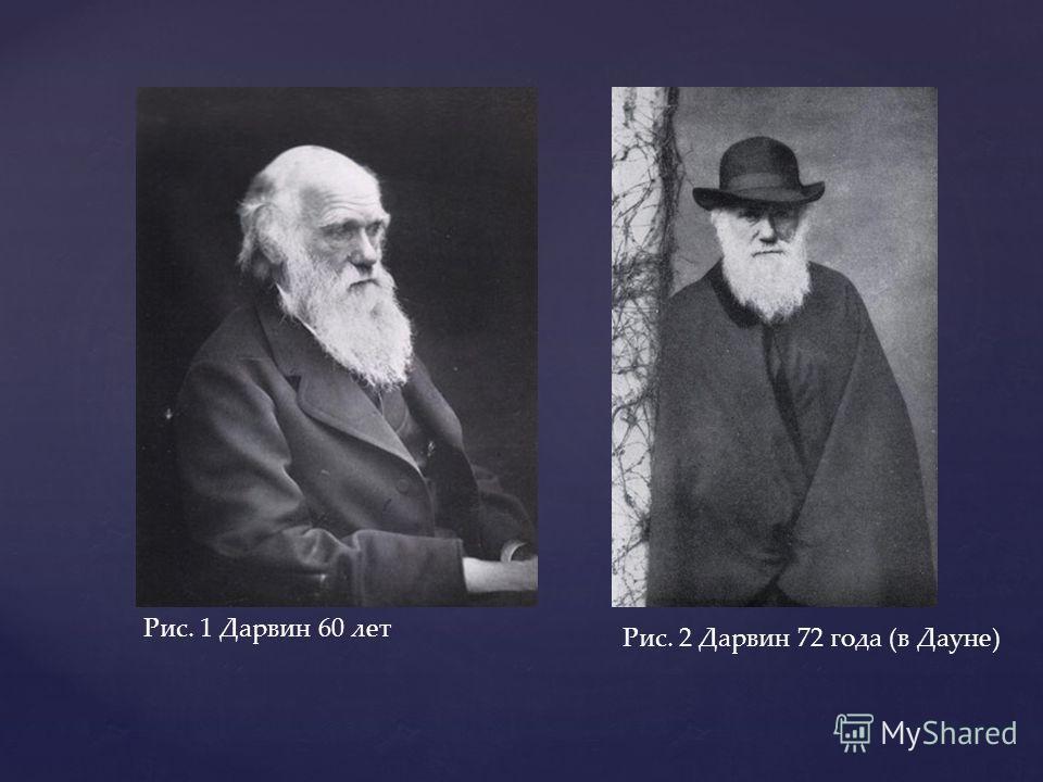 Рис. 1 Дарвин 60 лет Рис. 2 Дарвин 72 года (в Дауне)