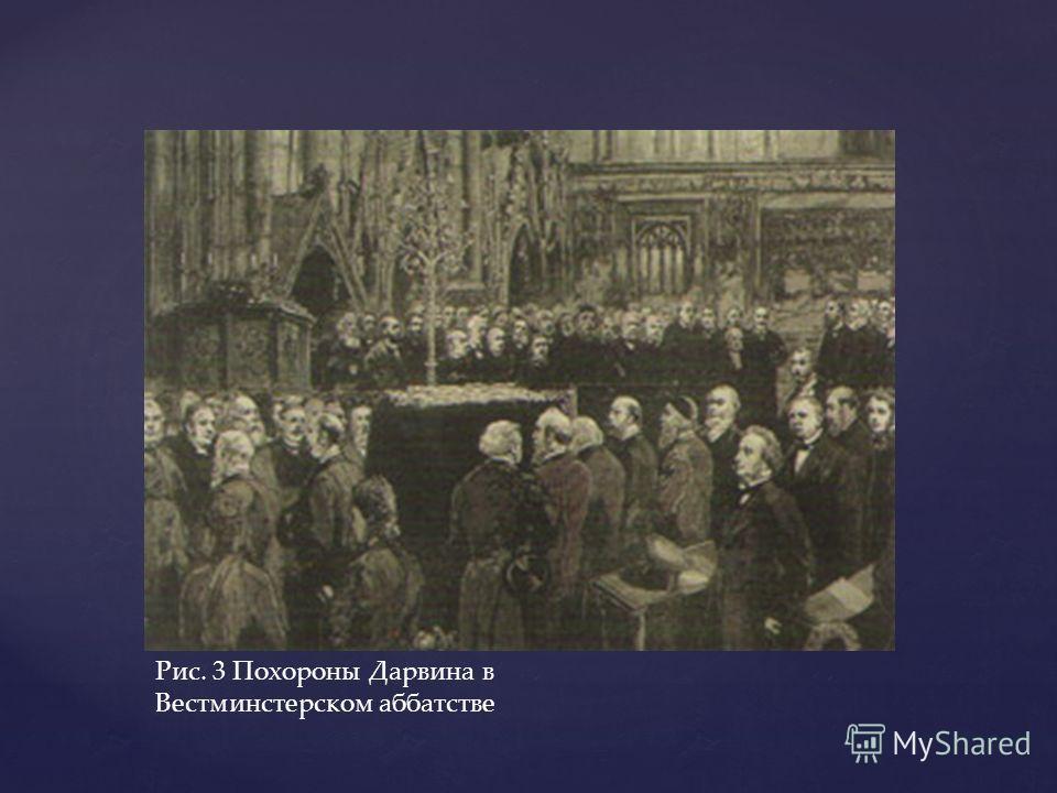 Рис. 3 Похороны Дарвина в Вестминстерском аббатстве