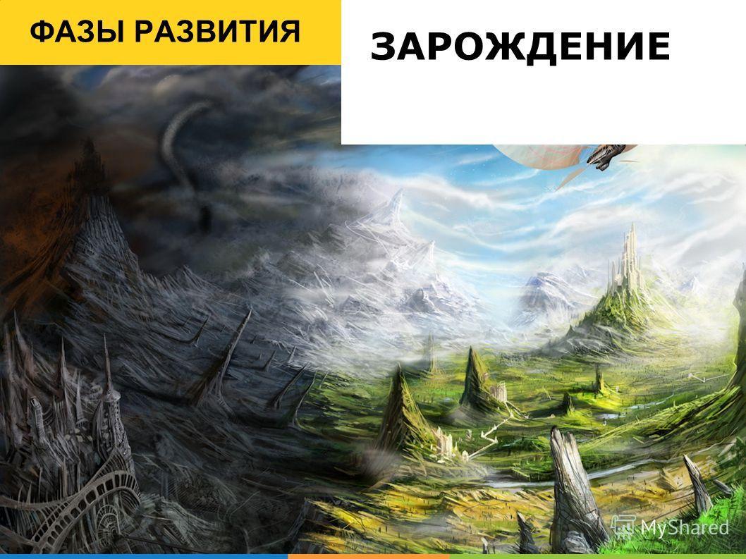 ФАЗЫ РАЗВИТИЯ ЗАРОЖДЕНИЕ