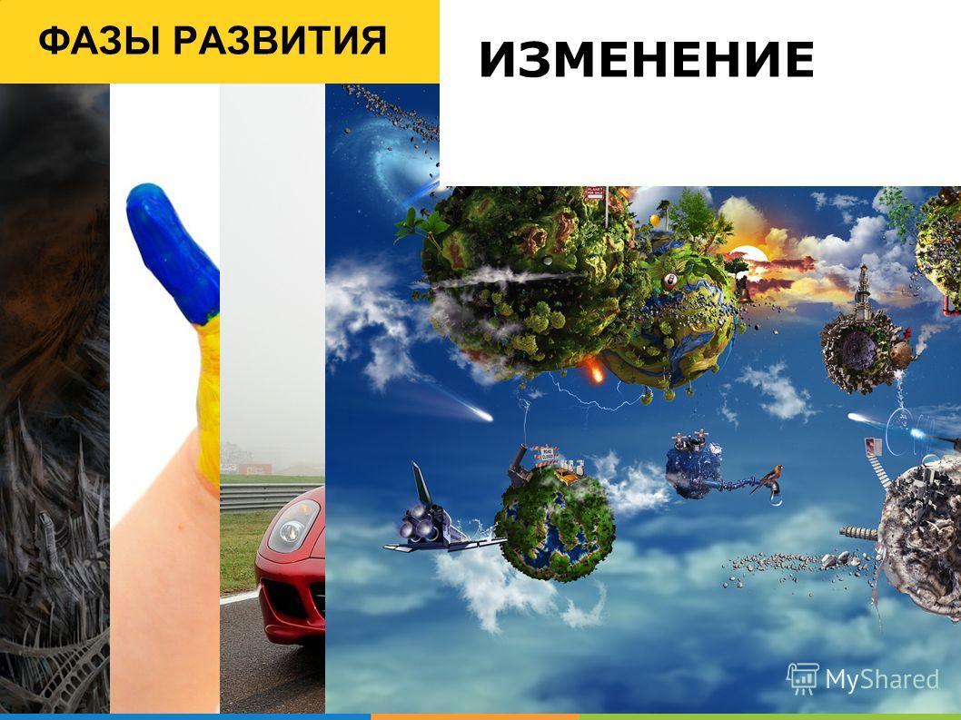 ФАЗЫ РАЗВИТИЯ ИЗМЕНЕНИЕ