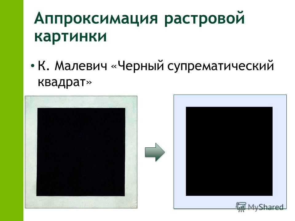 Аппроксимация растровой картинки К. Малевич «Черный супрематический квадрат»