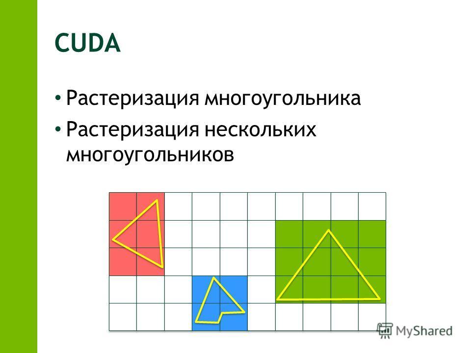 CUDA Растеризация многоугольника Растеризация нескольких многоугольников