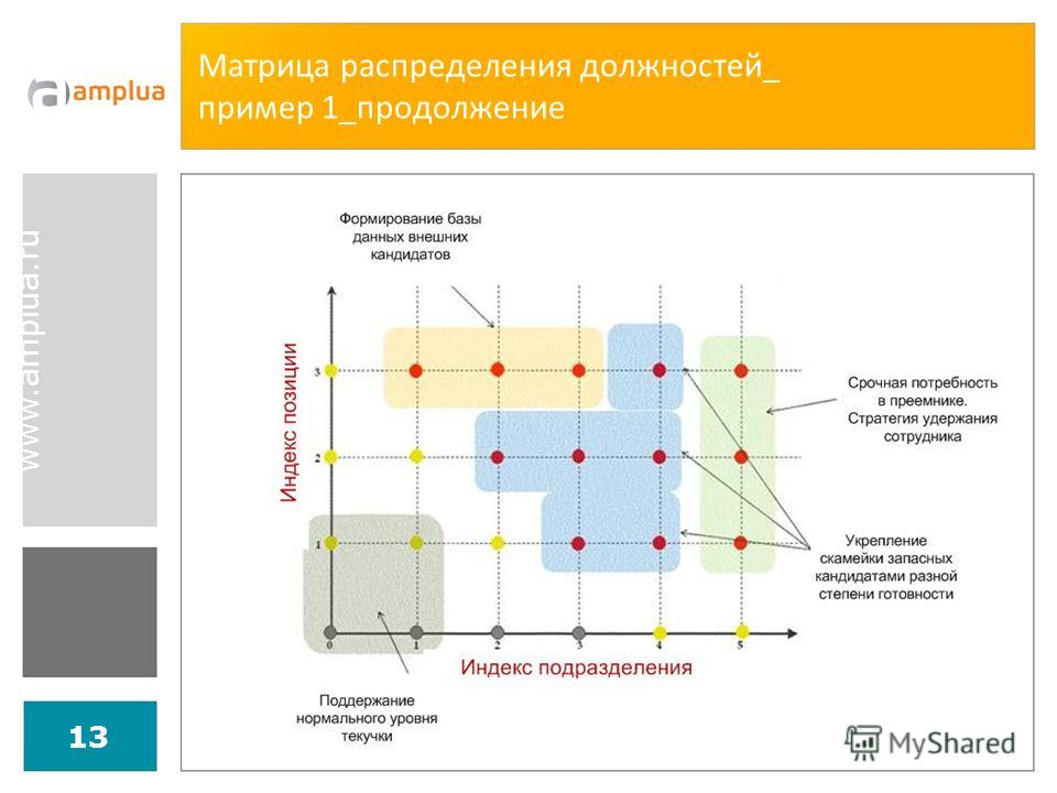 www.amplua.ru 13 Матрица распределения должностей_ пример 1_продолжение