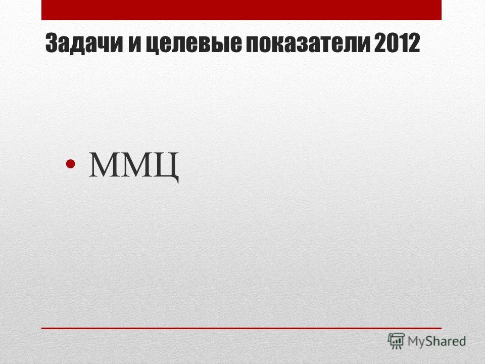 Задачи и целевые показатели 2012 ММЦ
