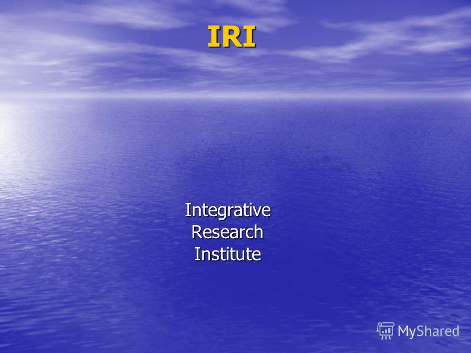 IRI IntegrativeResearchInstitute