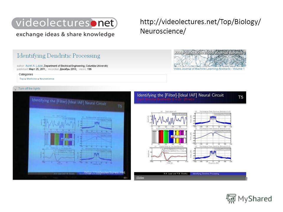 http://videolectures.net/Top/Biology/ Neuroscience/