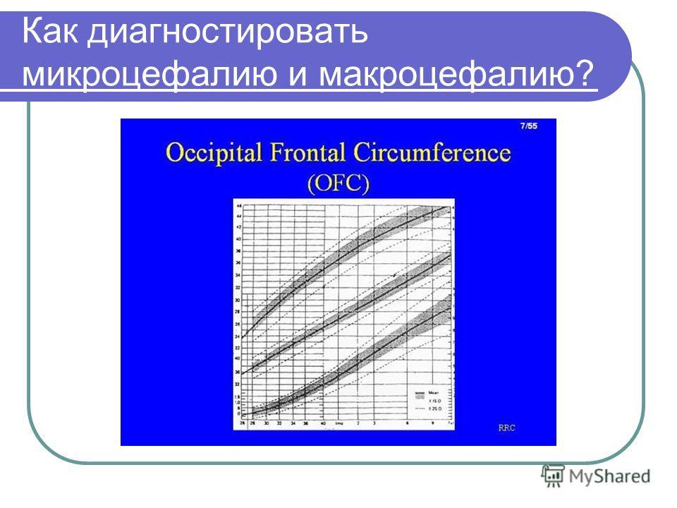 Как диагностировать микроцефалию и макроцефалию?