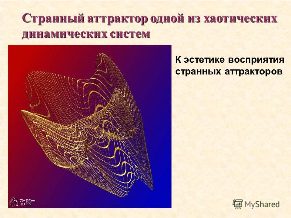 Странный аттрактор одной из хаотических динамических систем К эстетике восприятия странных аттракторов