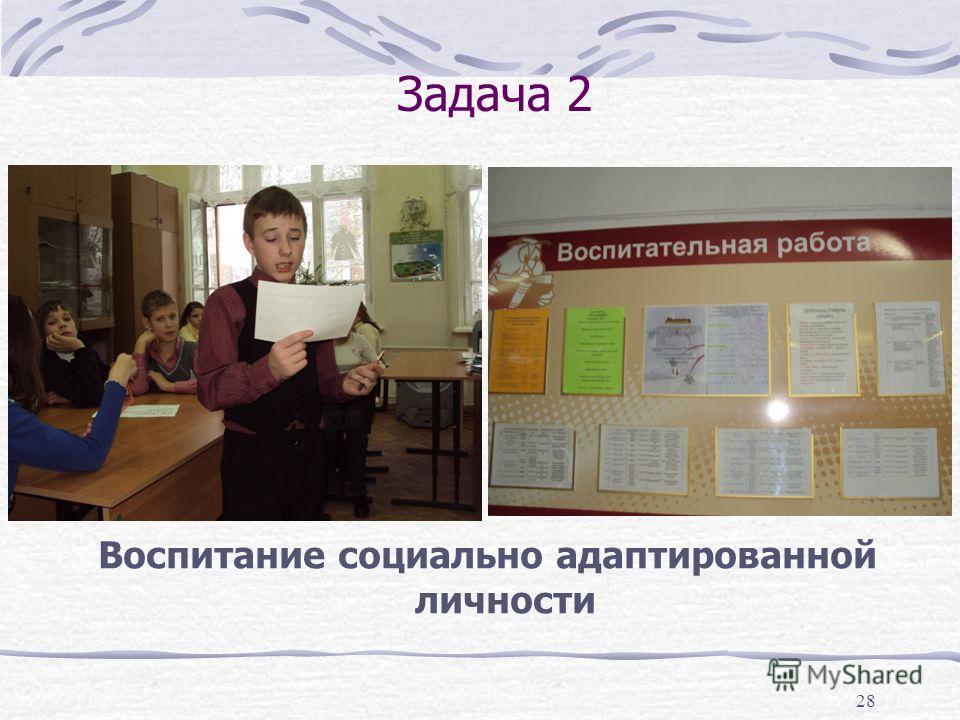 28 Задача 2 Воспитание социально адаптированной личности