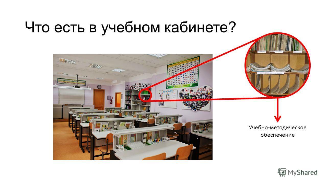 Что есть в учебном кабинете? Учебно-методическое обеспечение