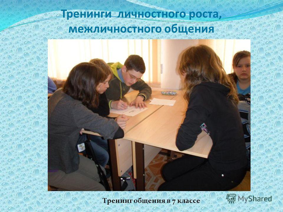 Тренинги личностного роста, межличностного общения Тренинг общения в 7 классе
