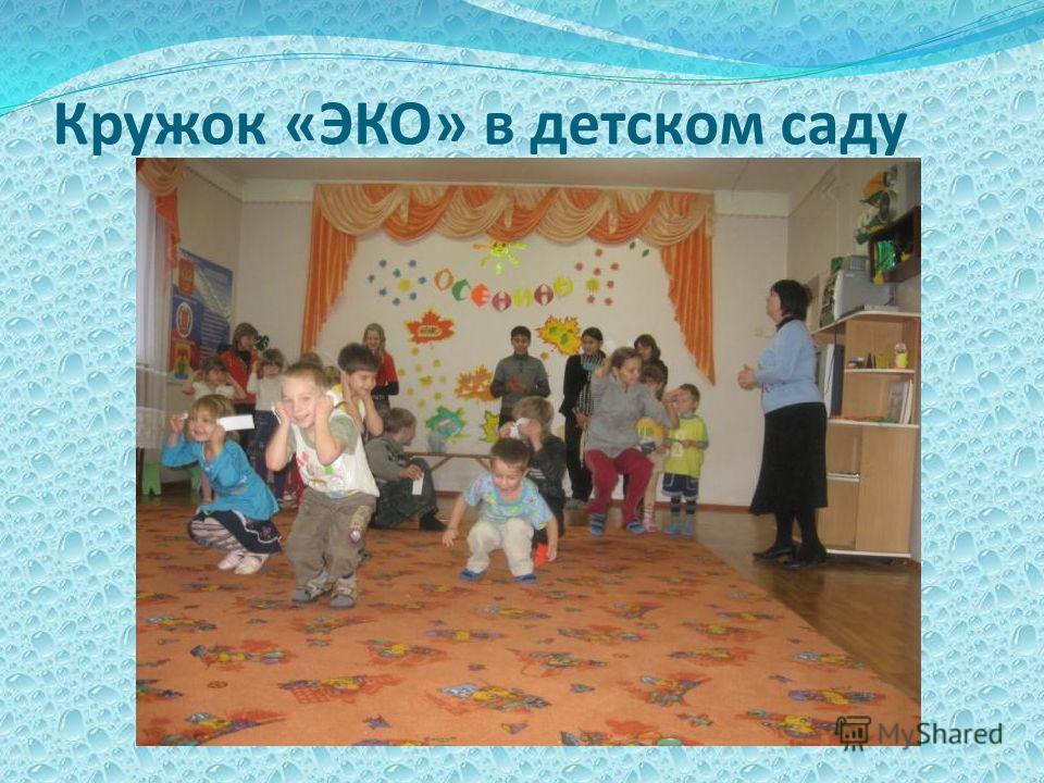 Кружок «ЭКО» в детском саду