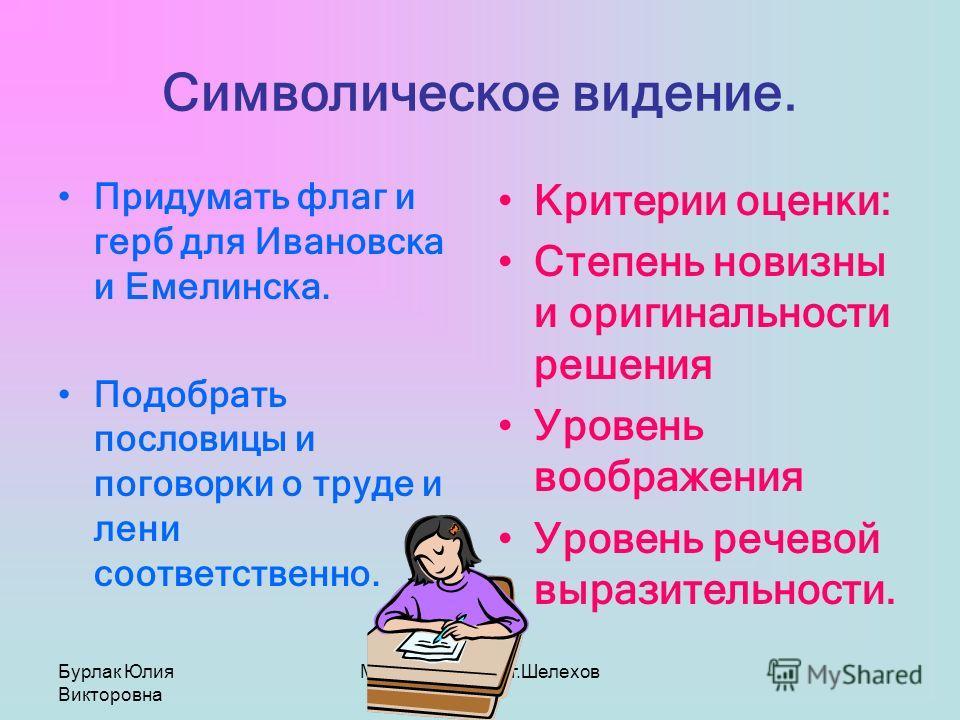 Бурлак Юлия Викторовна МОУ