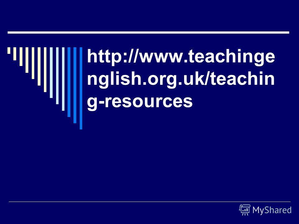 http://www.teachinge nglish.org.uk/teachin g-resources