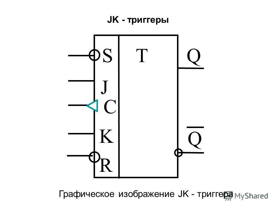 JK - триггеры S R J K C TQ Q Графическое изображение JK - триггера