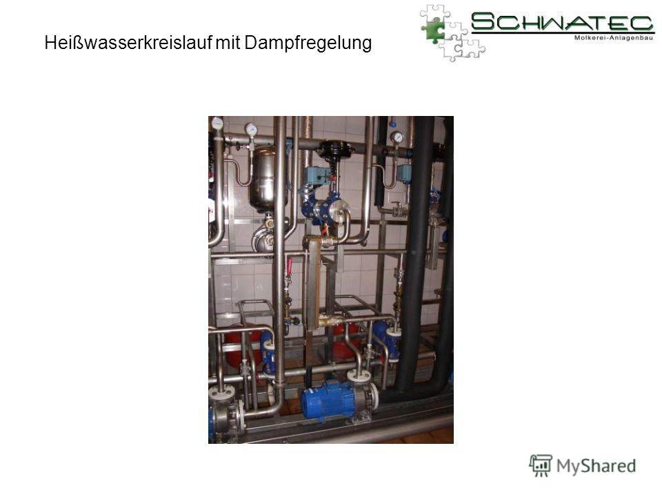Heißwasserkreislauf mit Dampfregelung