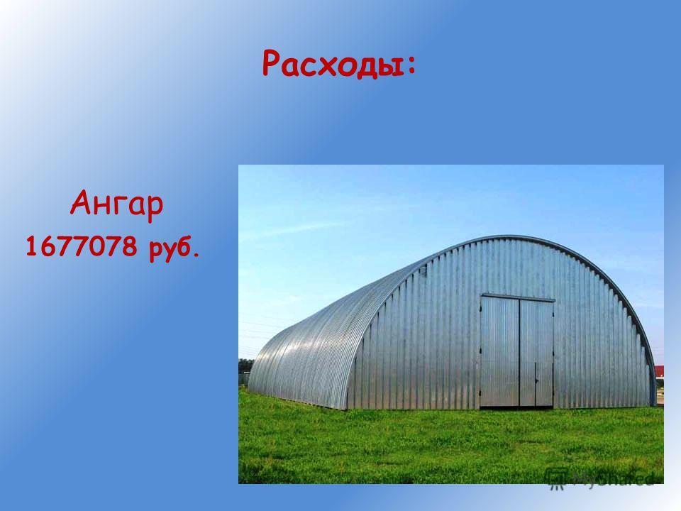 Расходы: Ангар 1677078 руб.
